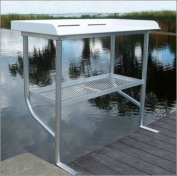 Dock Mounted Fish Cleaning Table