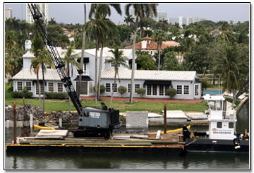 Morrison Dock Construction Barge and Crane